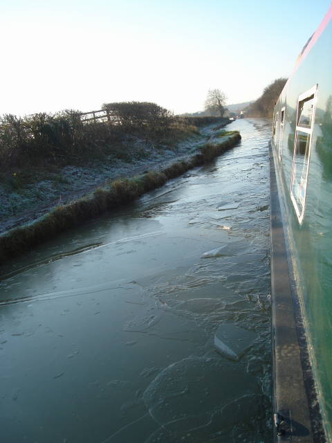 Ice Breaking Oxford Canal