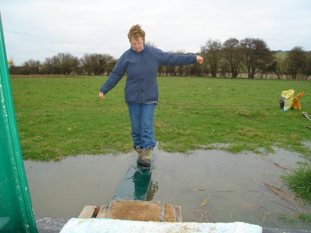 Karen walks the plank