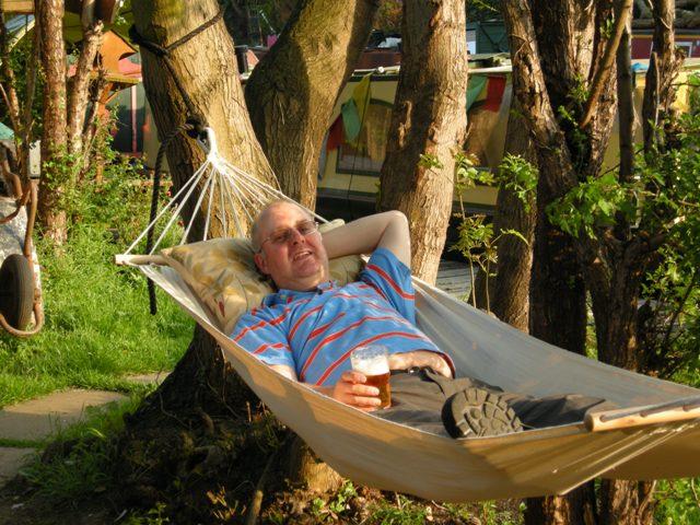 Paul in hammock