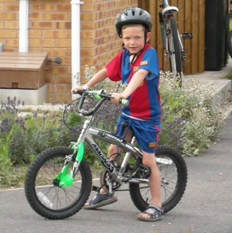 Josh on bike