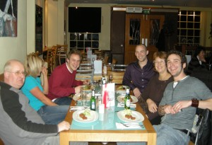 Dinner in Exeter with the boys and Holly